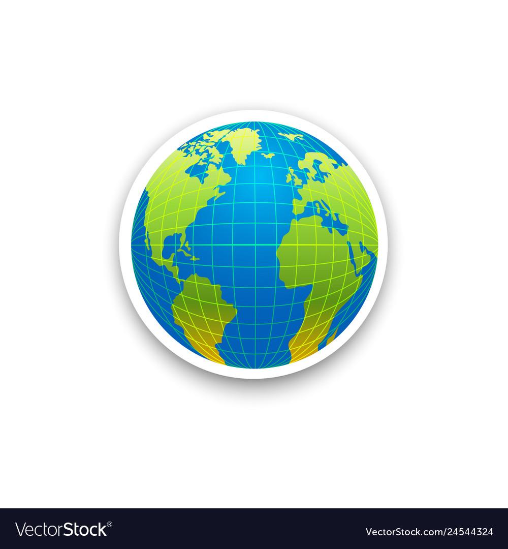 Globe icon isolated