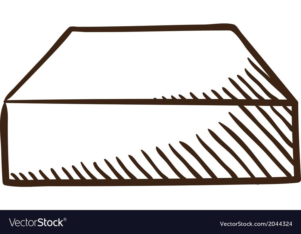 Hard drive symbol vector image