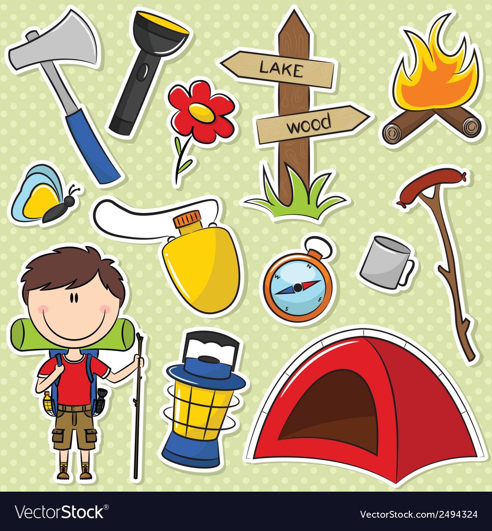 Hiker Boy vector image