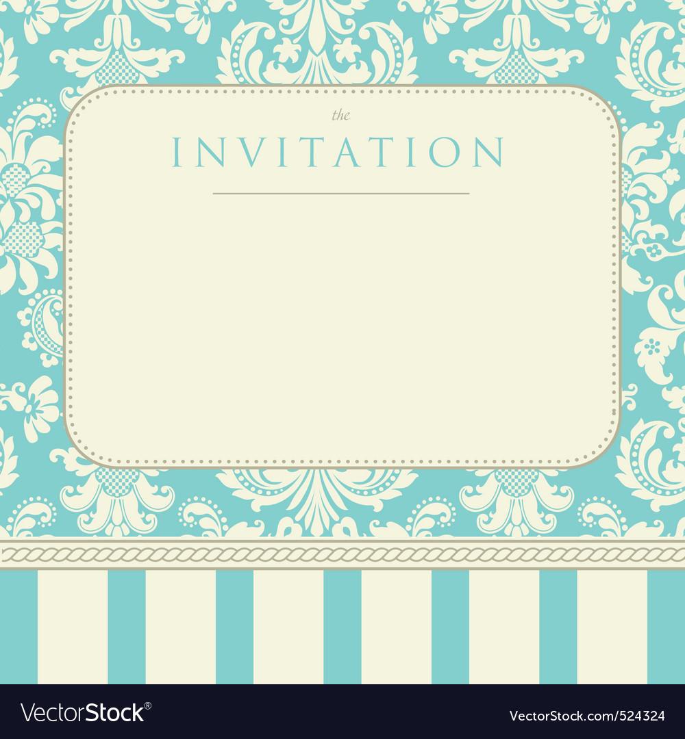 Invitation to the wedding vector image