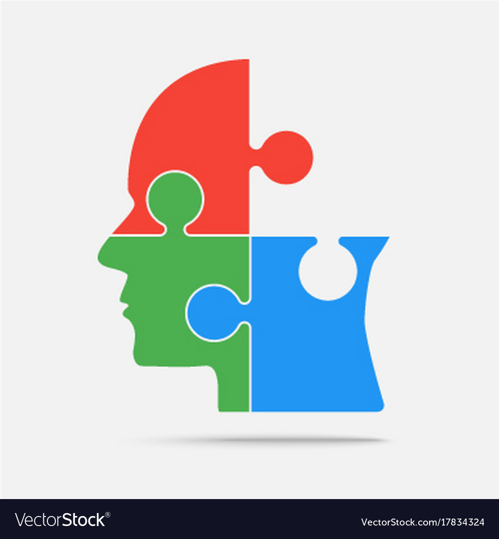 Multi color puzzle piece head jigsaw royalty free vector multi color puzzle piece head jigsaw vector image ccuart Gallery