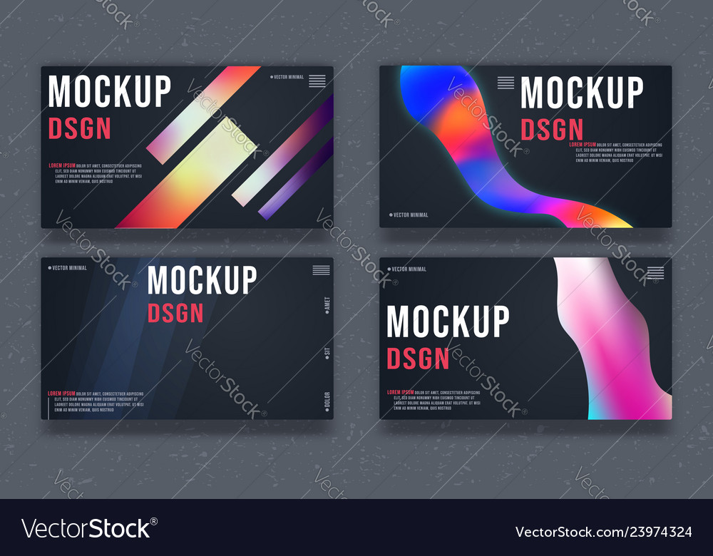Set of abstract background template minimal