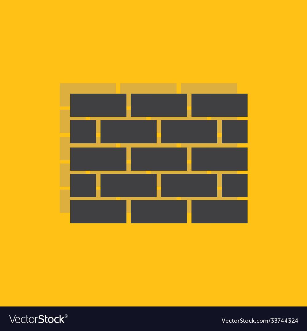 Wall icon sign icon symbol flat icon flat
