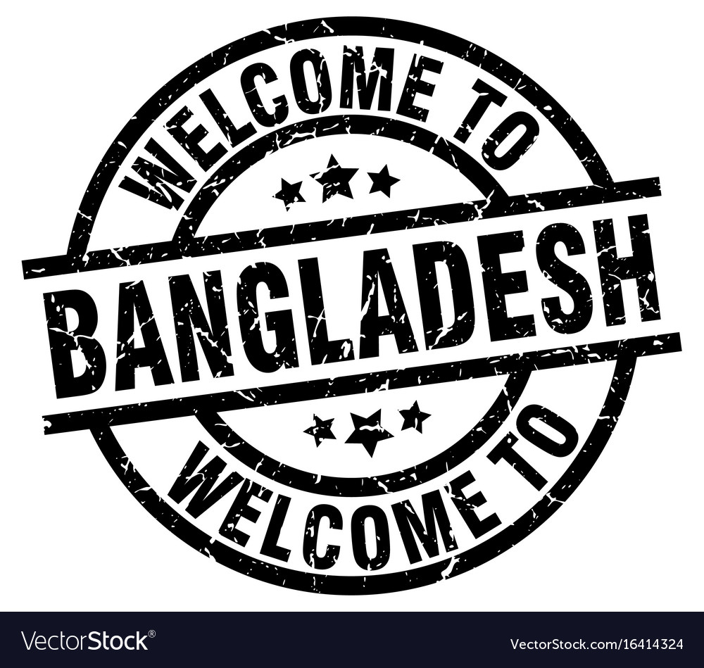 Welcome to bangladesh black stamp