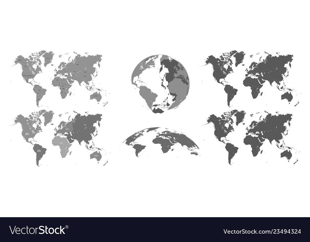 World gray maps map atlas earth topography