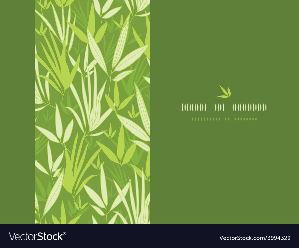 Bamboo branches vertical decor seamless pattern