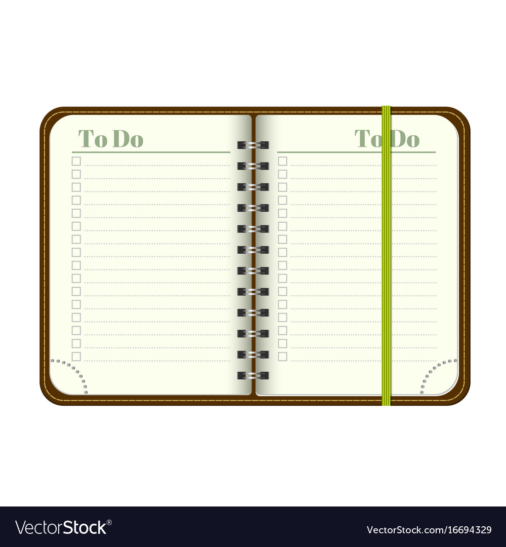 picture regarding Blank to Do List named E book with blank in the direction of do listing vacant spot for your