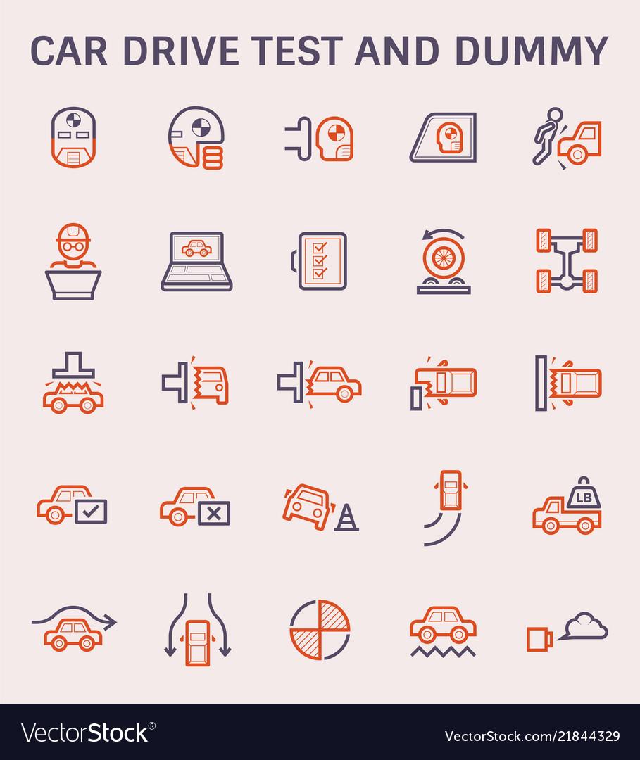 Car test icon