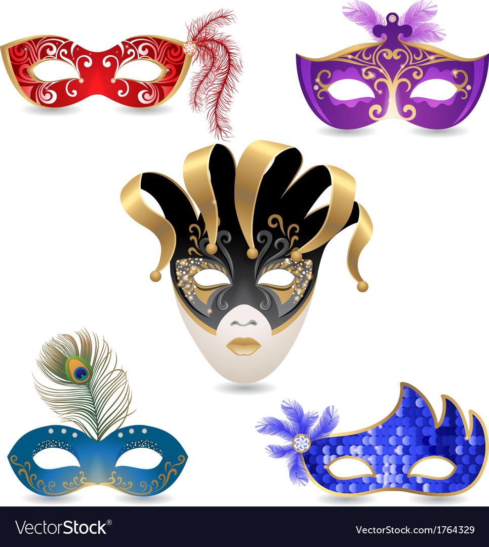 carnival masks royalty free vector image vectorstock