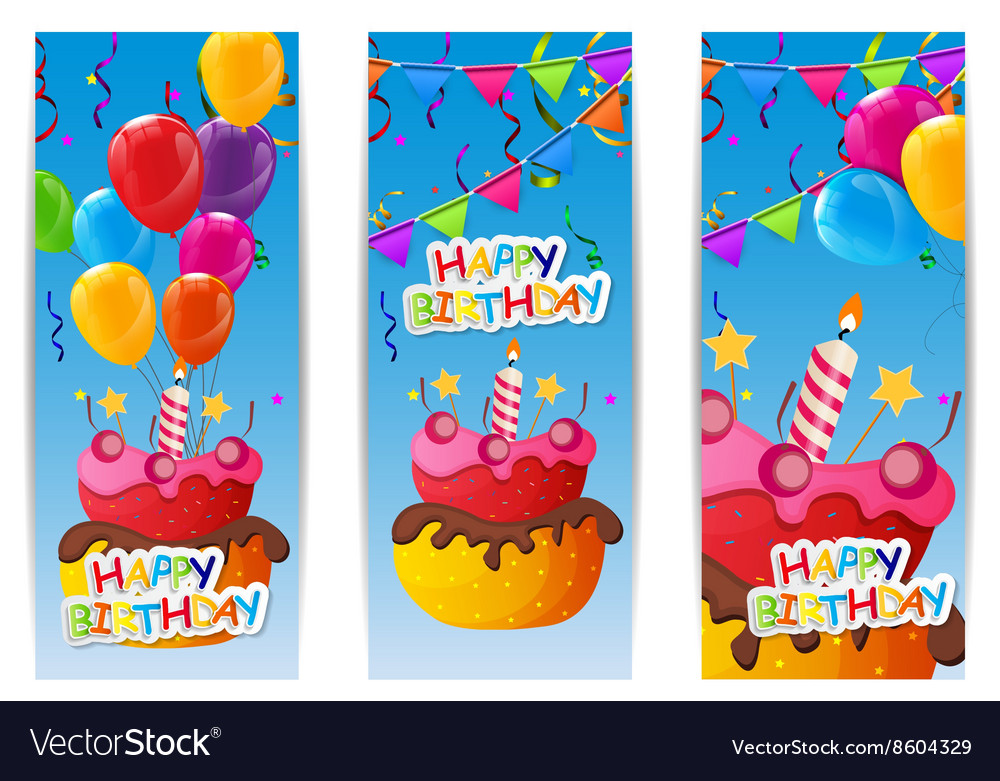Fabulous Color Glossy Happy Birthday Balloons And Cake Vector Image Funny Birthday Cards Online Alyptdamsfinfo