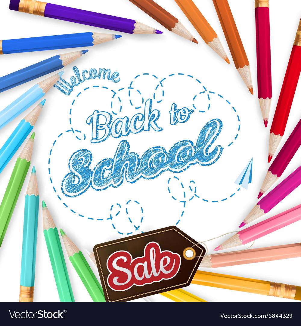 Colorful pencils school Sale EPS 10