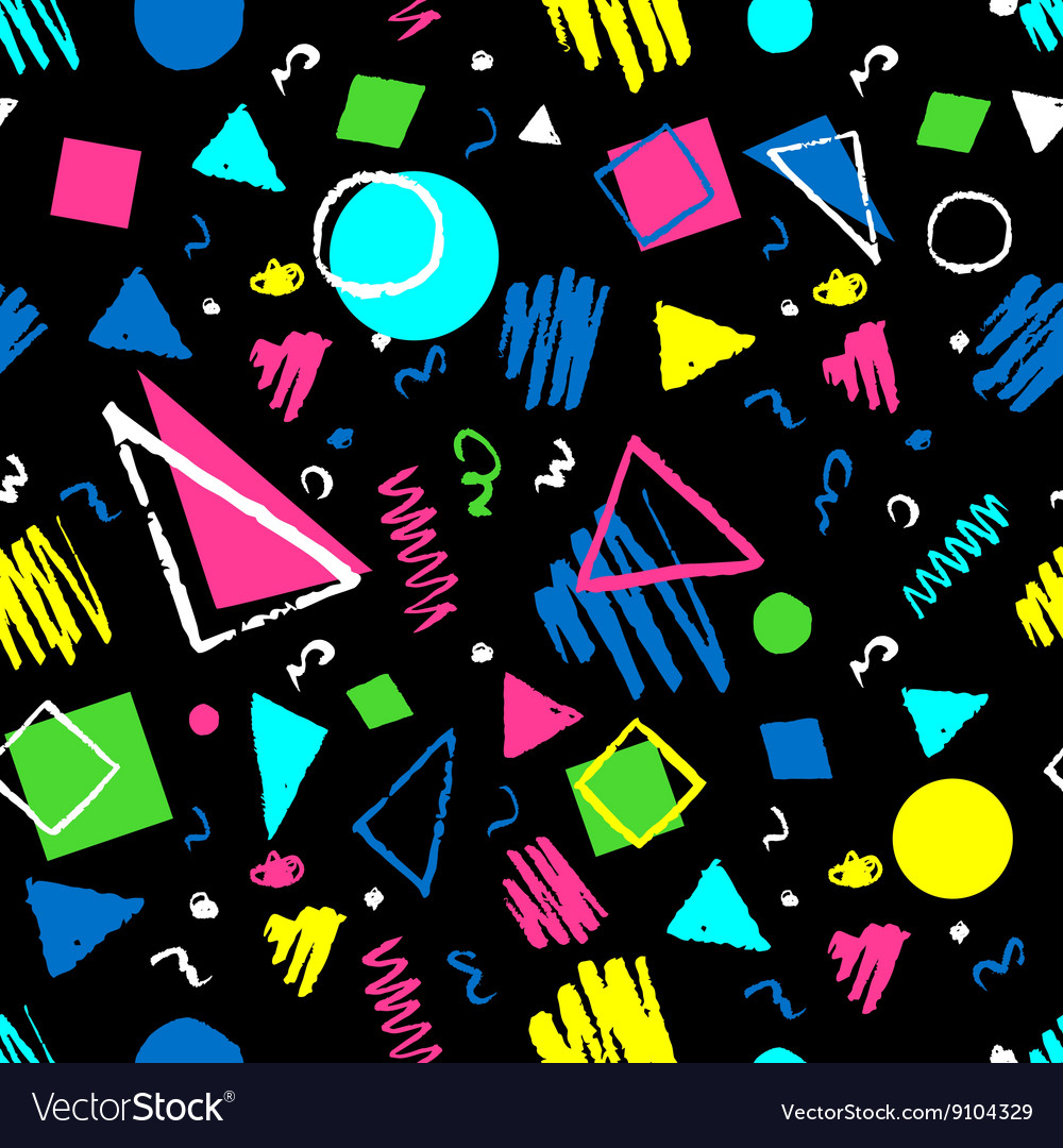 Dark seamless geometric pattern