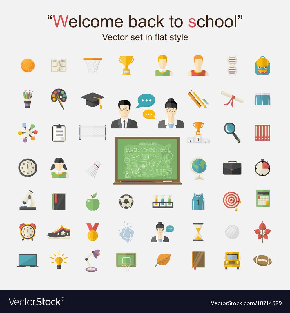 Education icon big set