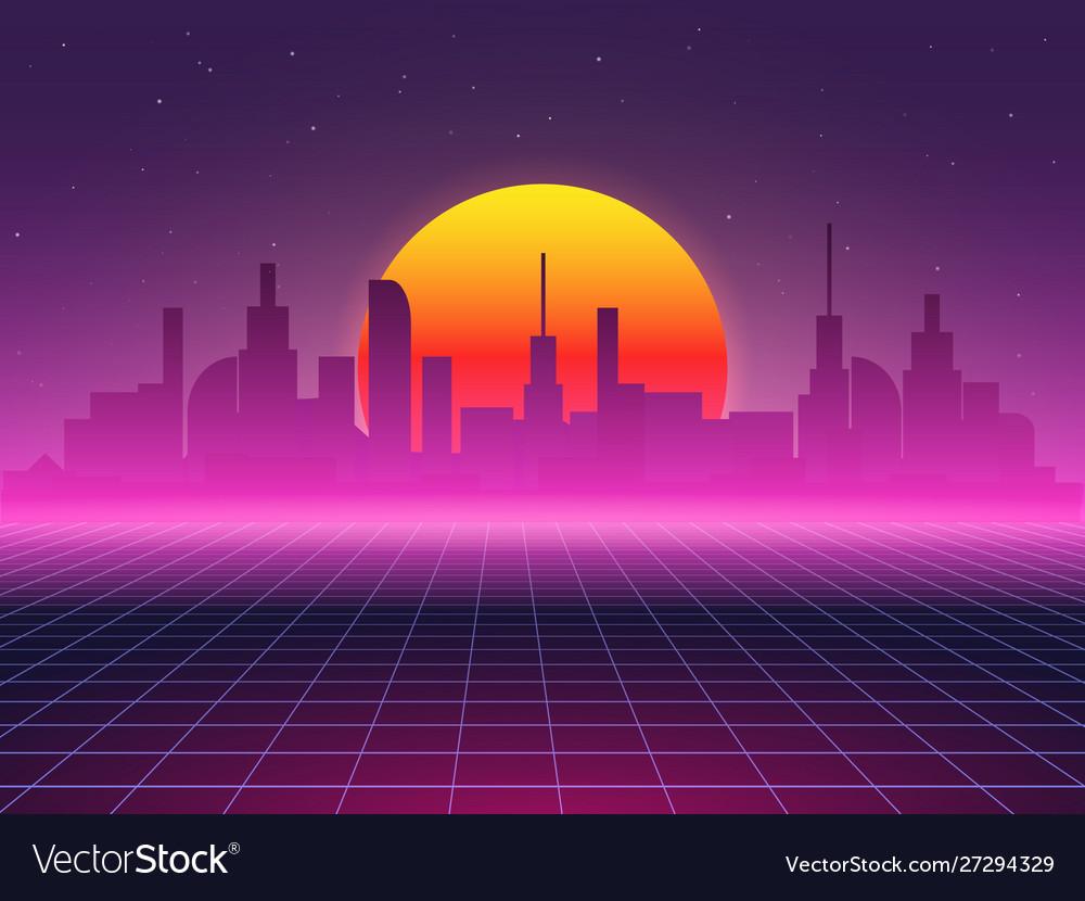 Futuristic background city landscape