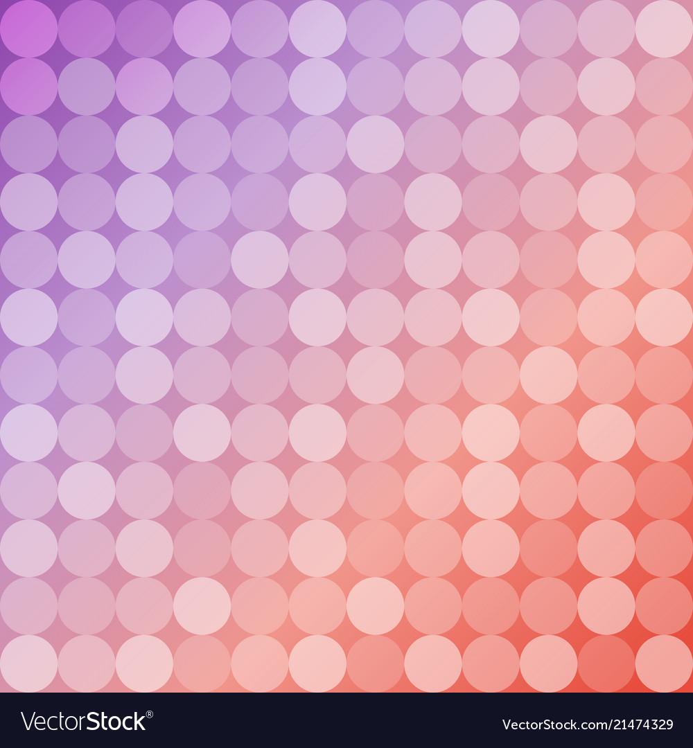 Geometric background of circles round mosaic