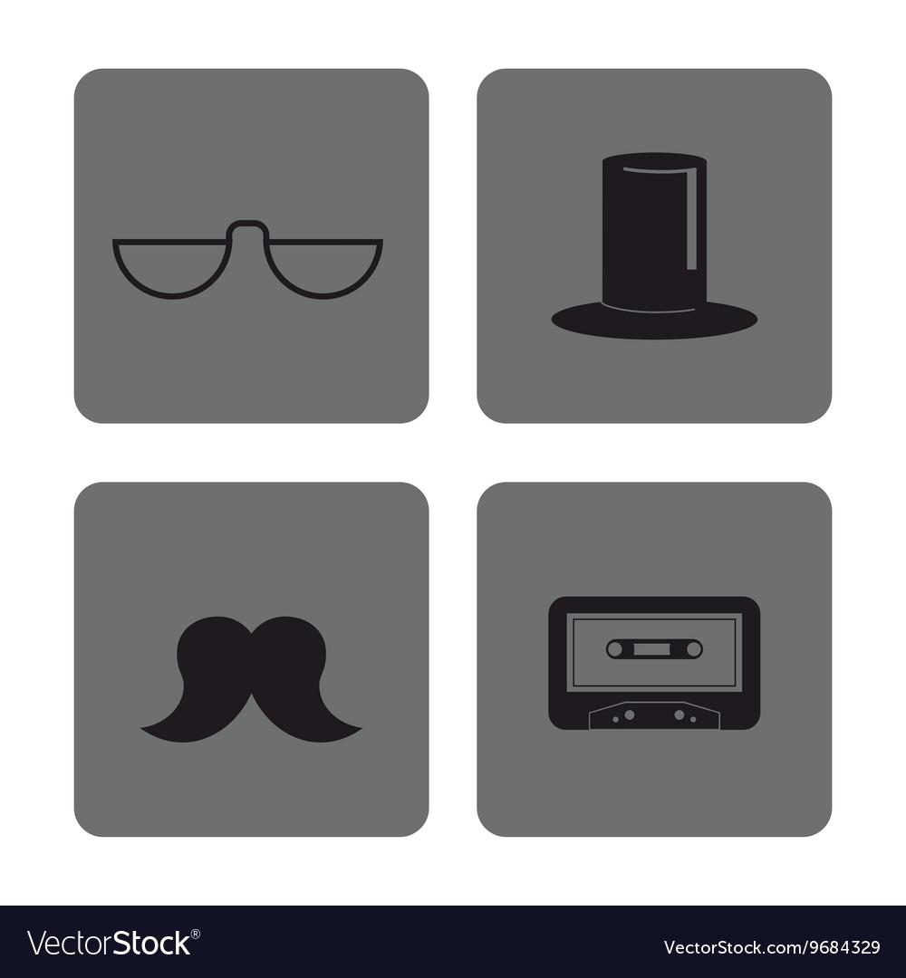 ea94b5f9ba5 Icon set Hipster Style design graphic vector image on VectorStock