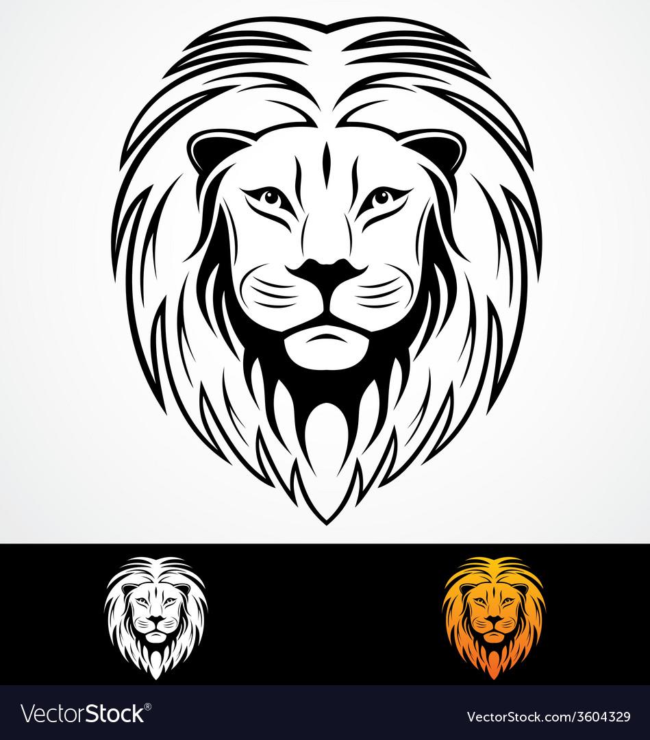 Lions Head Tribal Mascot