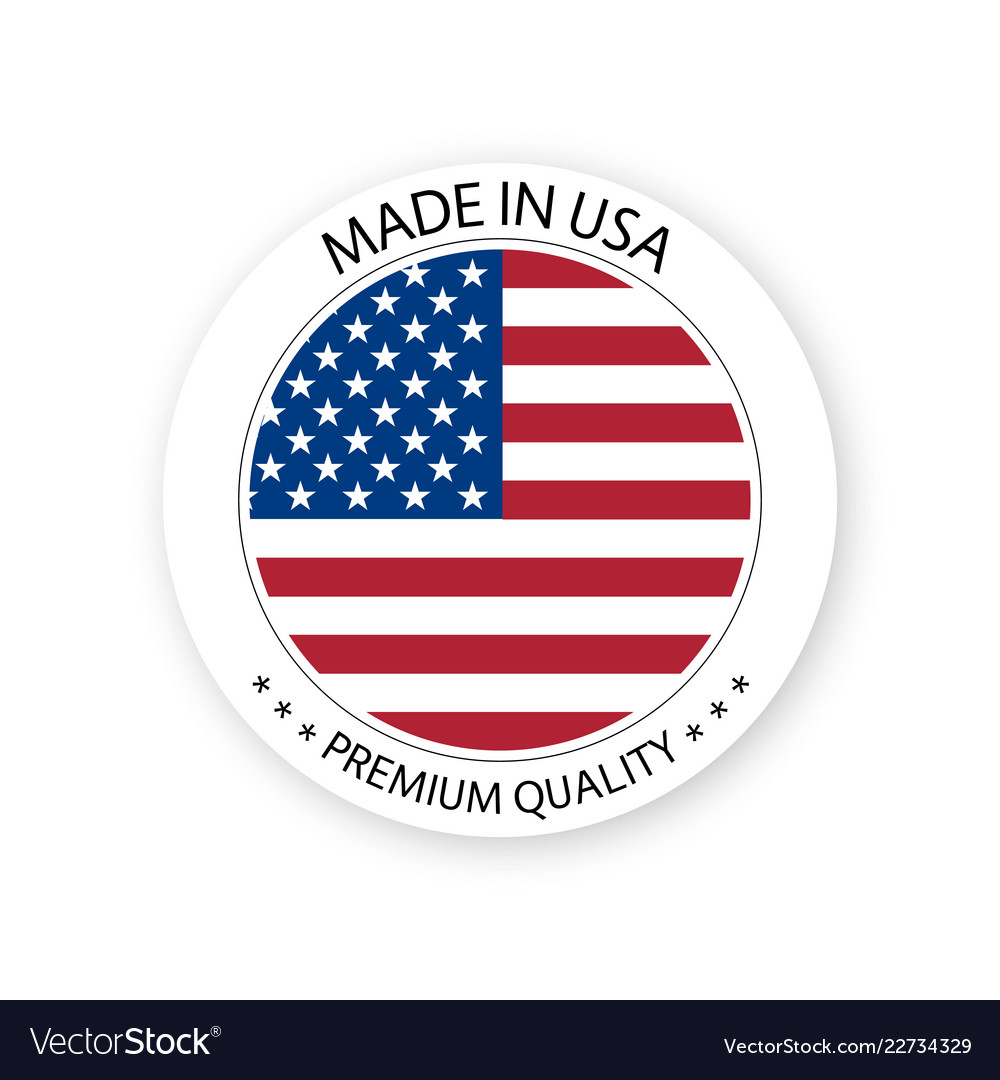 Modern made in usa label
