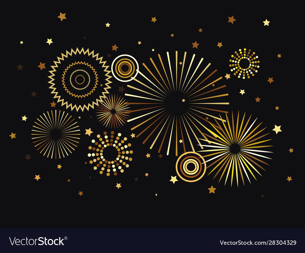 New year fireworks decoration festive background