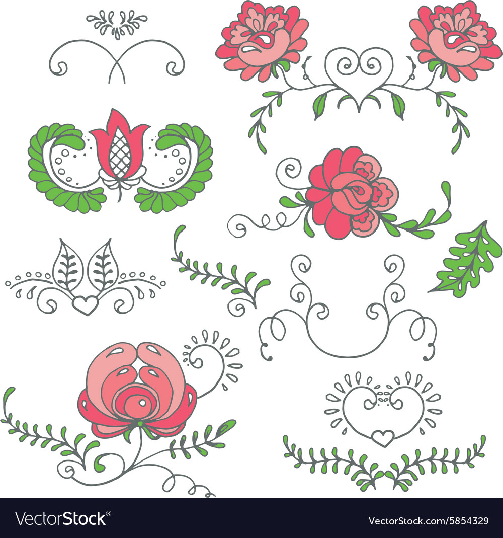 Seamless hand-drawn floral pattern