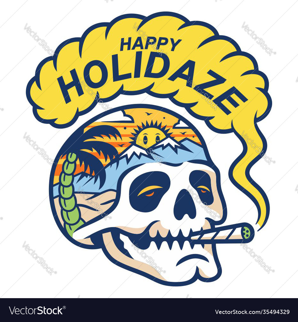 Skull smoke in paradise