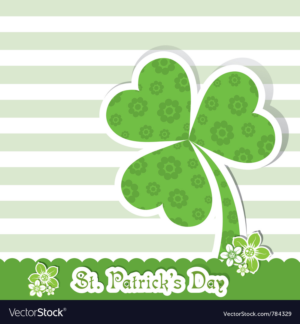 Template St Patricks Day Greeting Card Royalty Free Vector