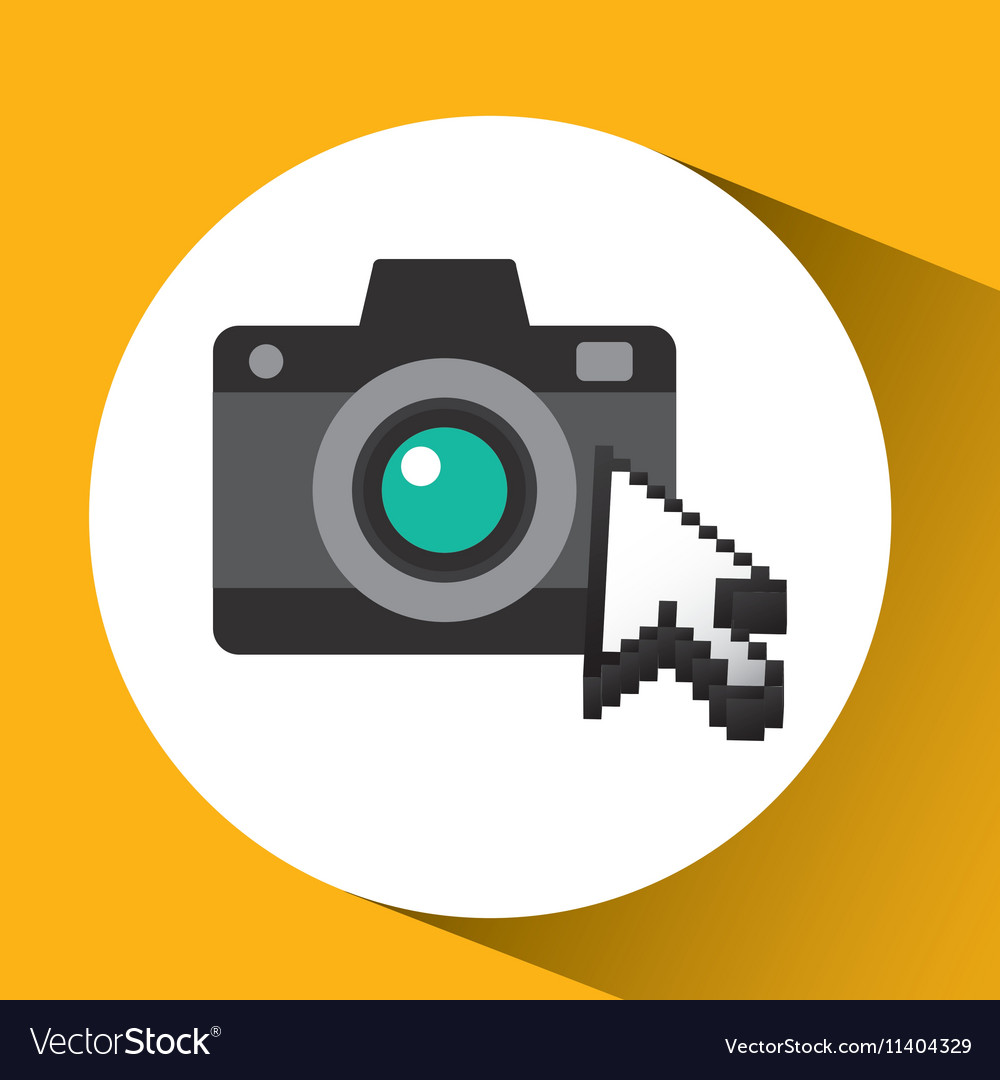 Traveling concept technology camera photo design vector image