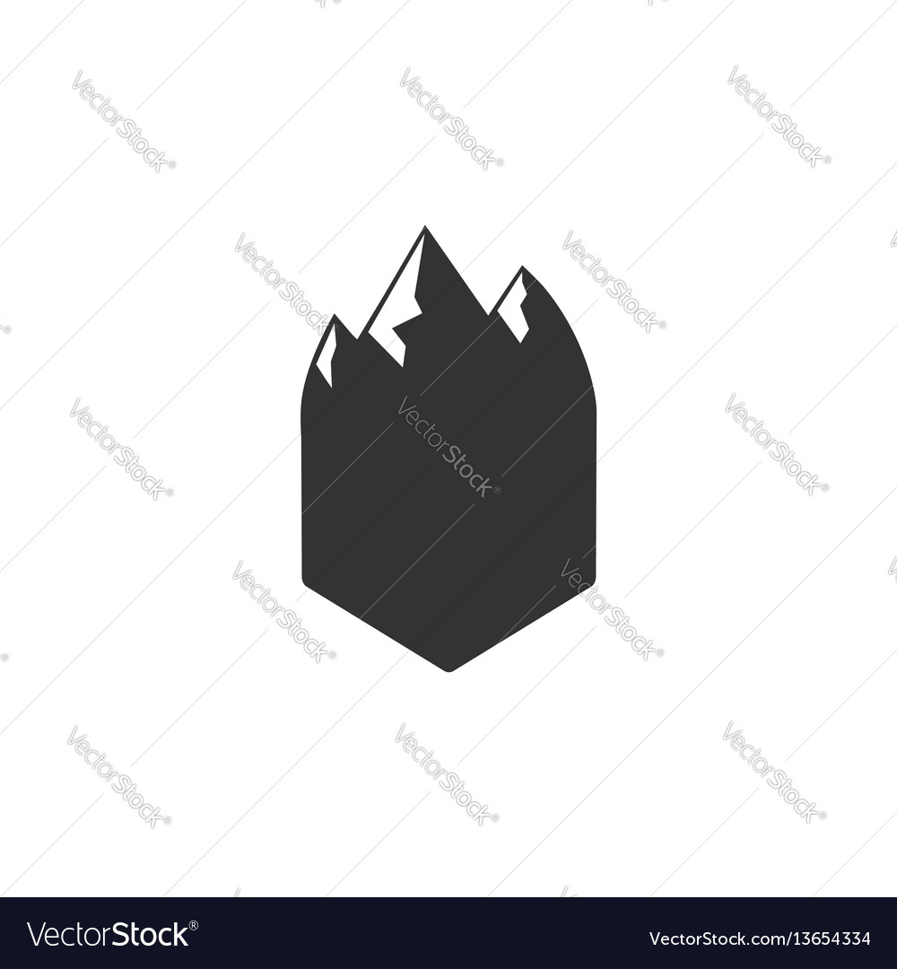 Blank badge form with mountains good for vector image