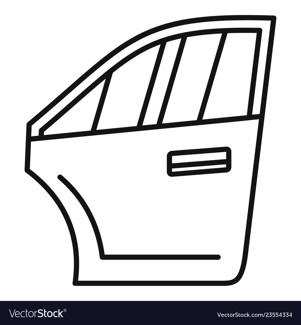 Car door icon outline style