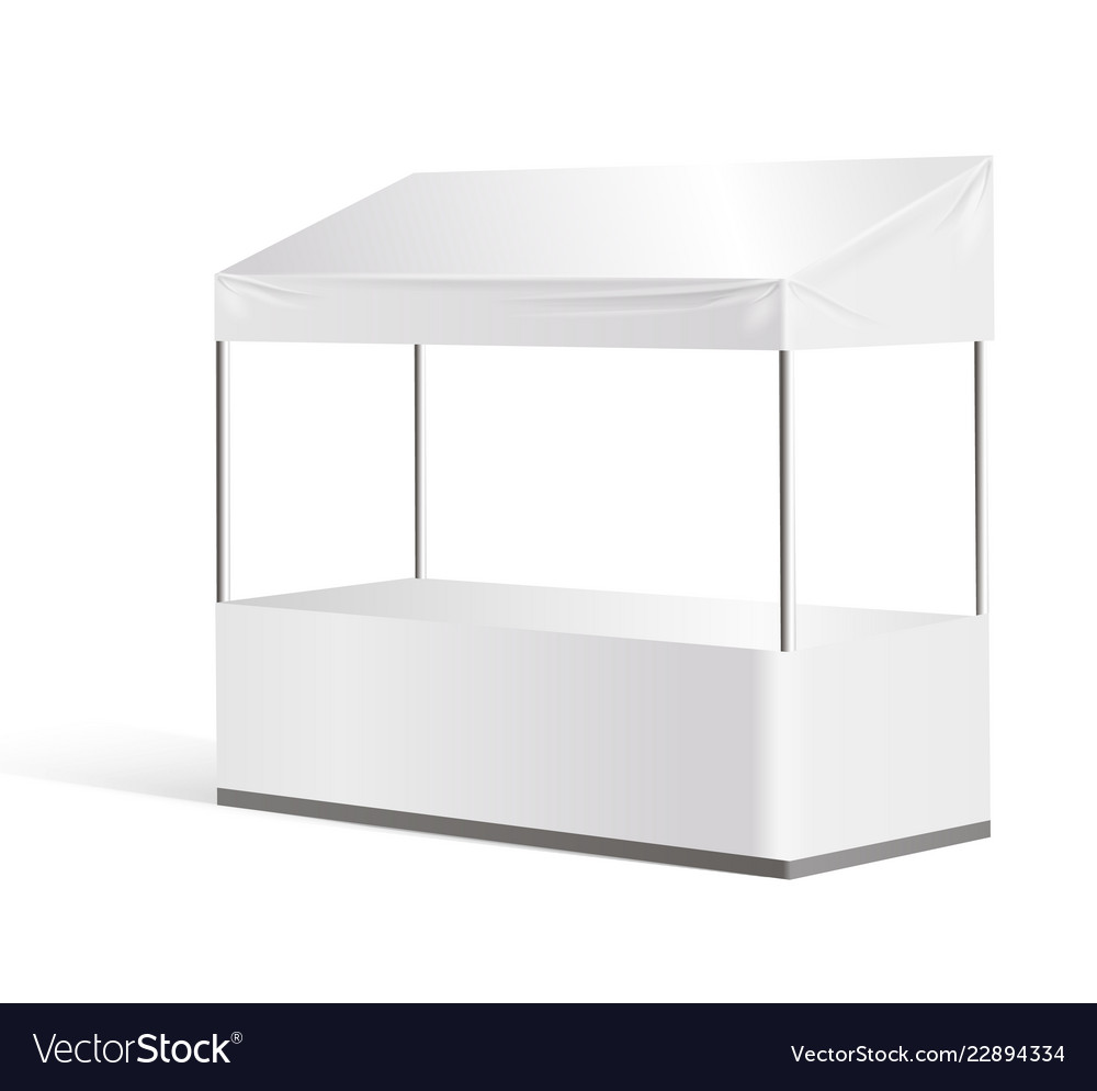 Exhibition Stand Information : Information booth exhibition stand mock up vector image