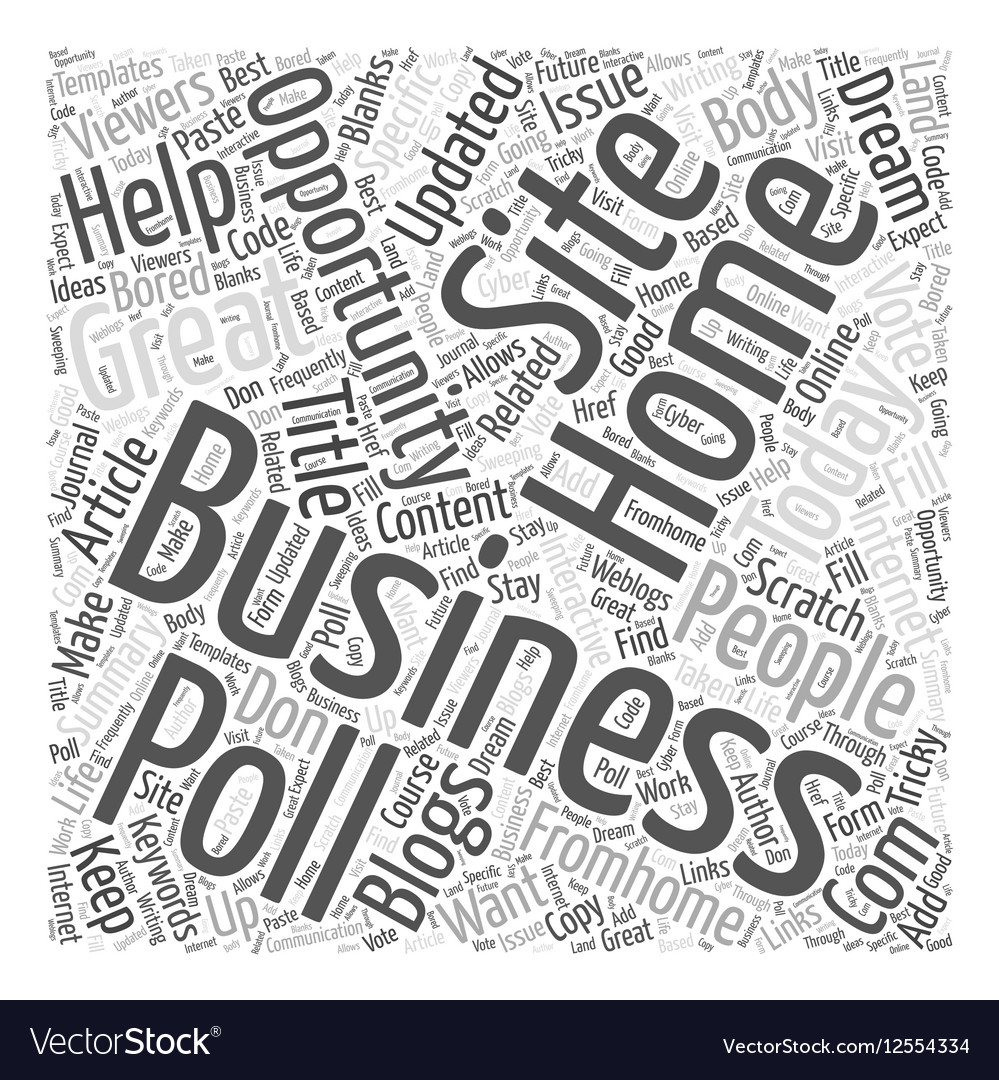 Internet home business opportunity Word Cloud