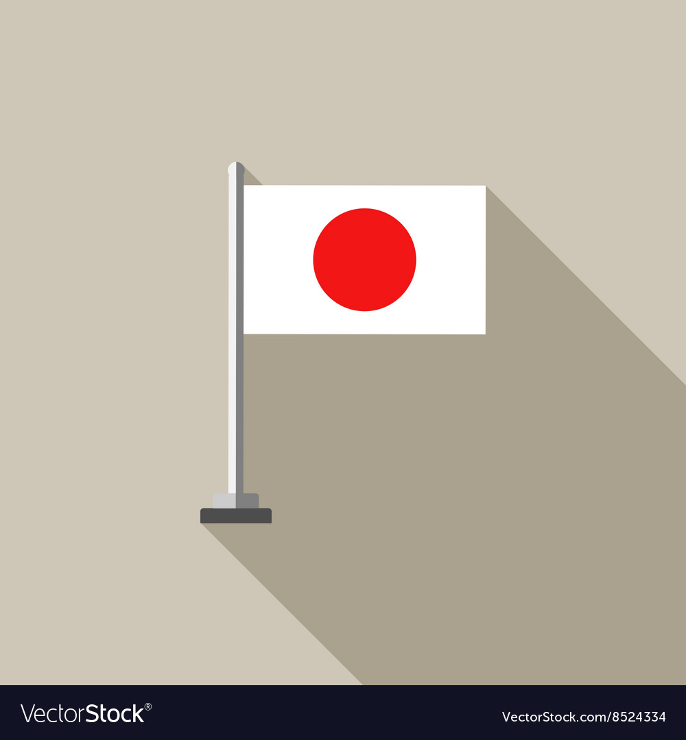 Japanese Country flag flat