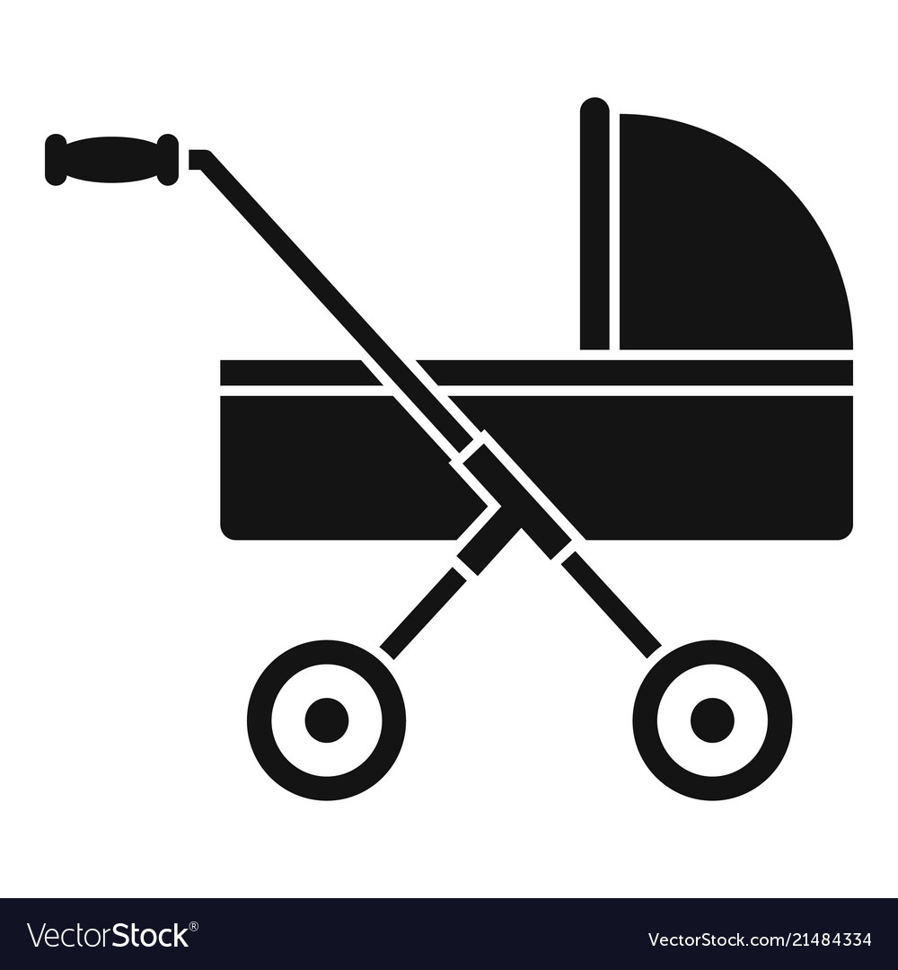 Modern baby carriage icon simple style