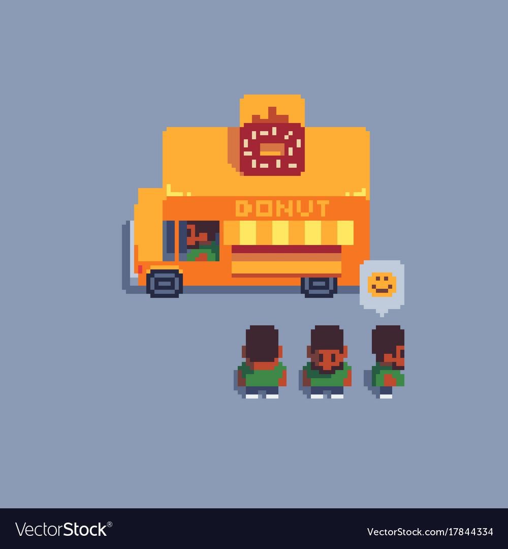 Pixel art icons set