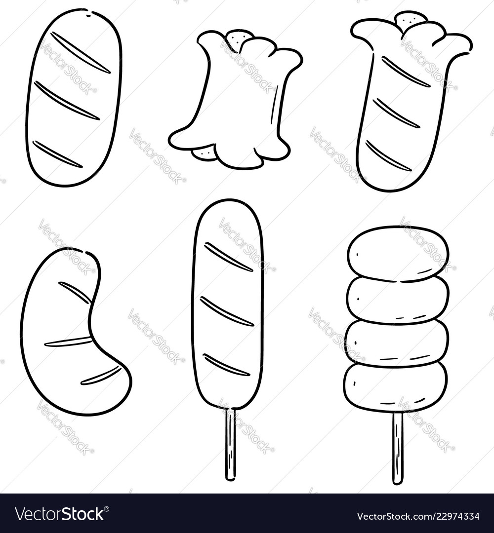 Set of sausages