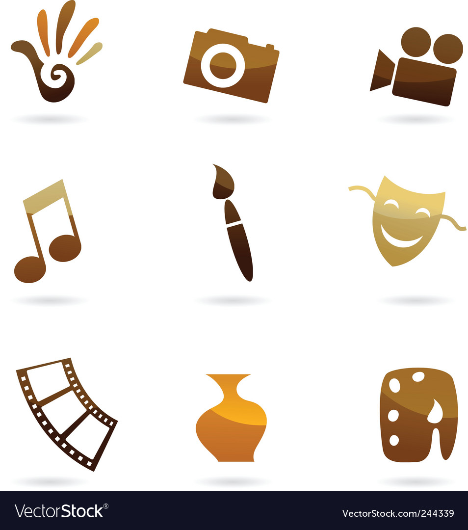 Art entertainment vector image