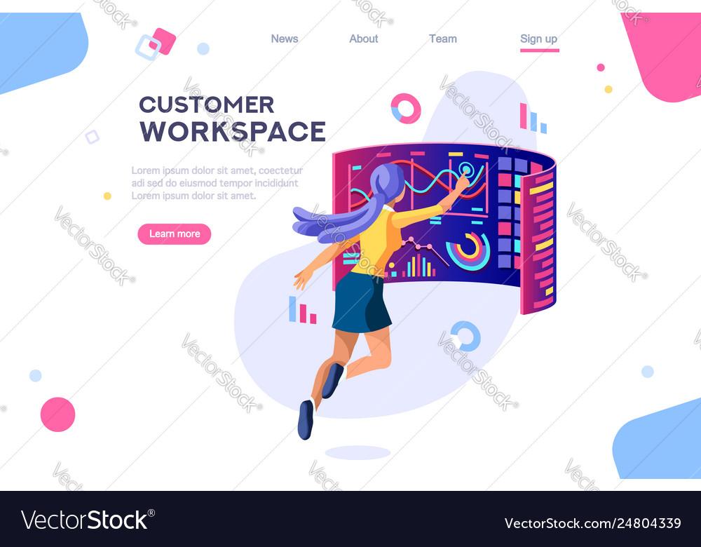 Customer workspace concept