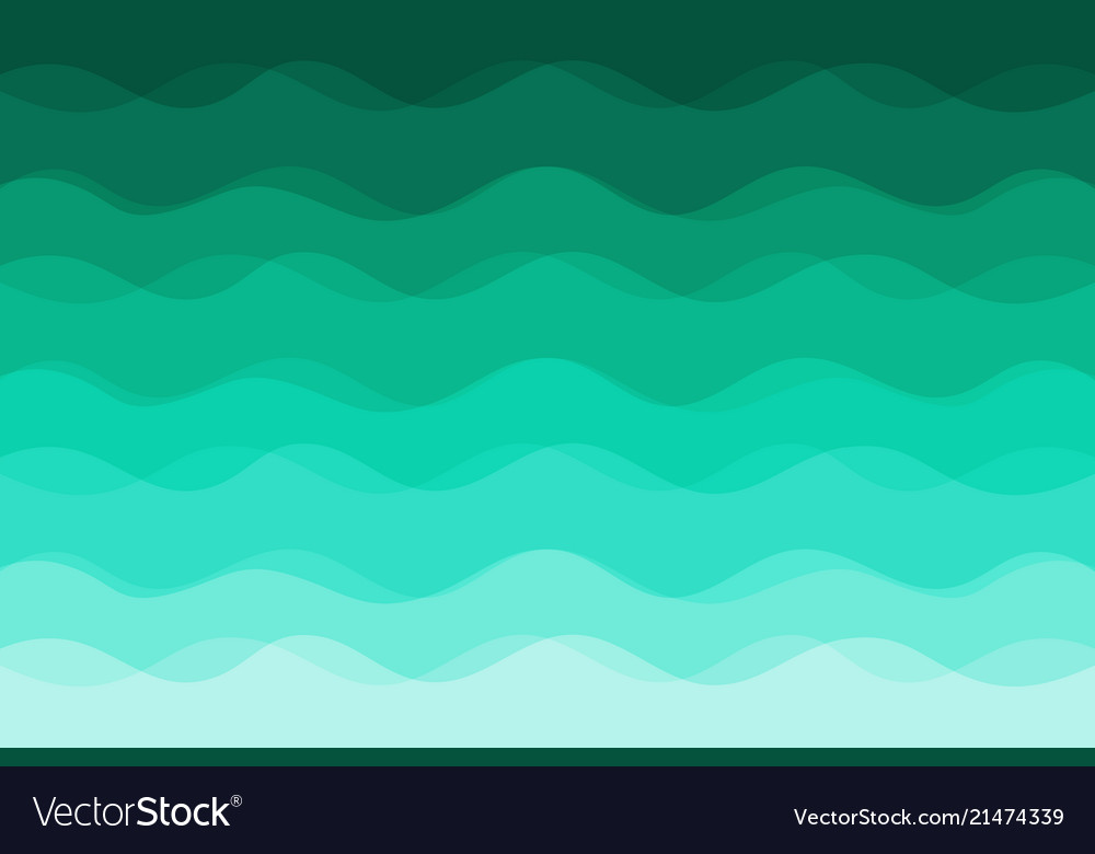 Green waves background for design