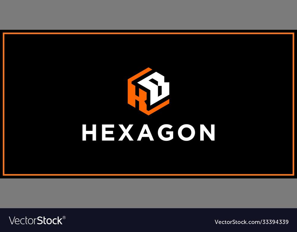 Kb hexagon logo design inspiration