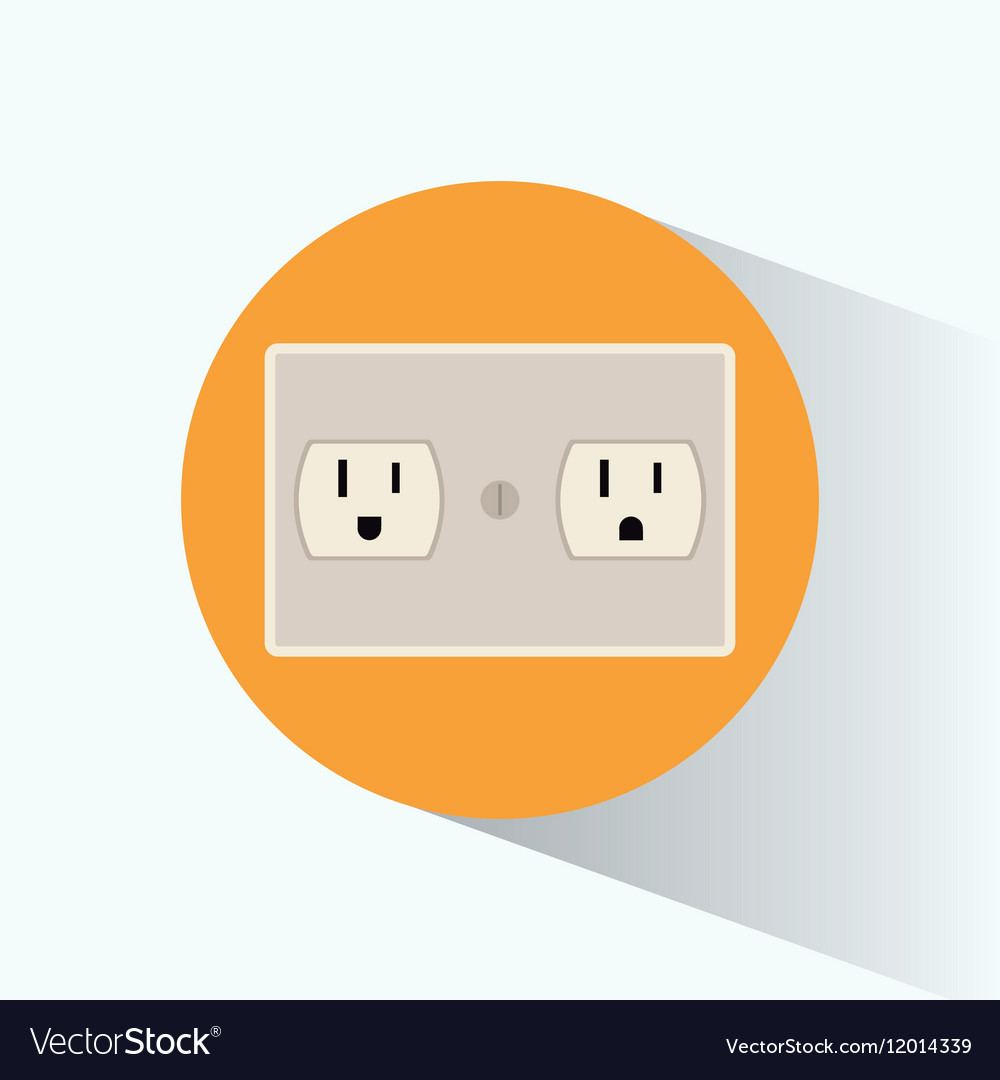 Plug Energy Electrical Circle Shadow Royalty Free Vector Sockets And Wiring For Electricity Stock Image