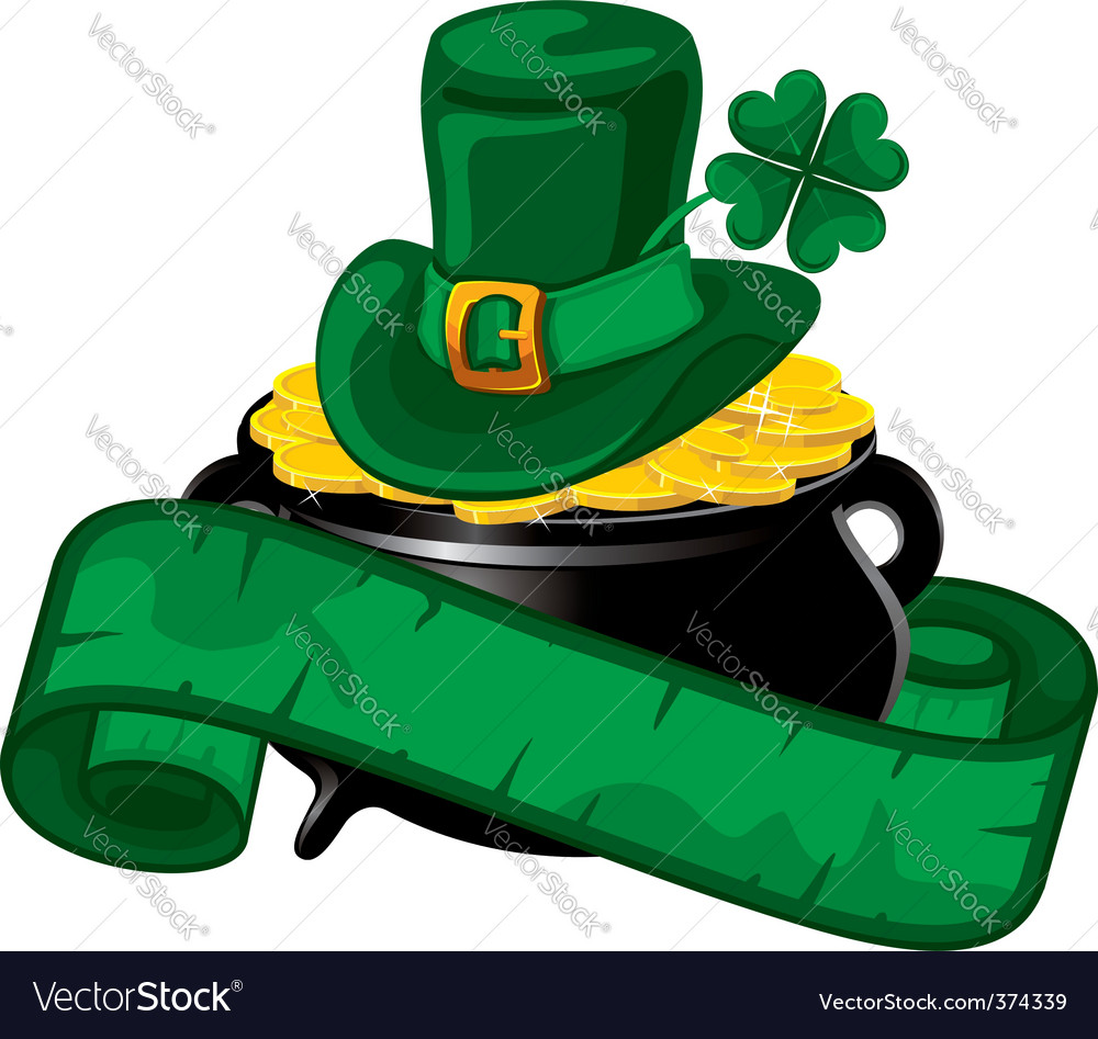 St Patrick's day background vector image