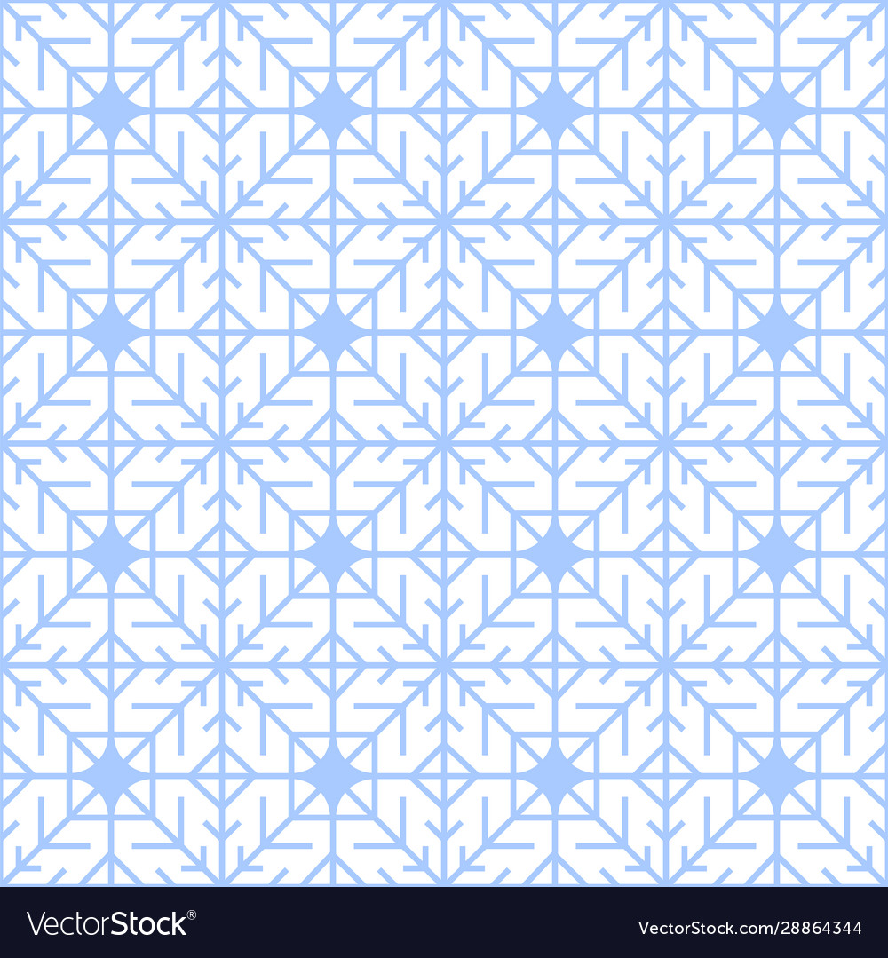 Abstract seamless winter pattern with geometric