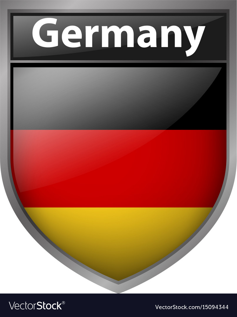 Flag of germany on badge