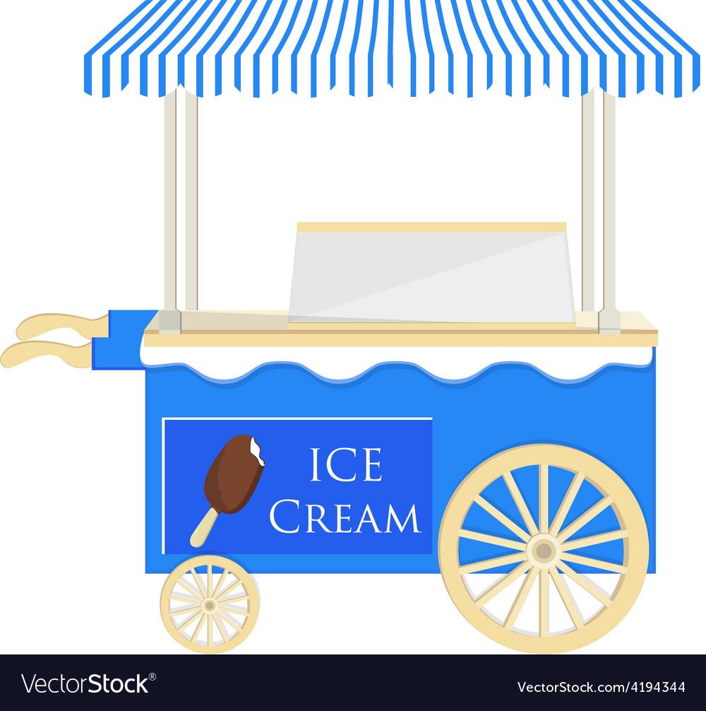 Ice cream blue cart