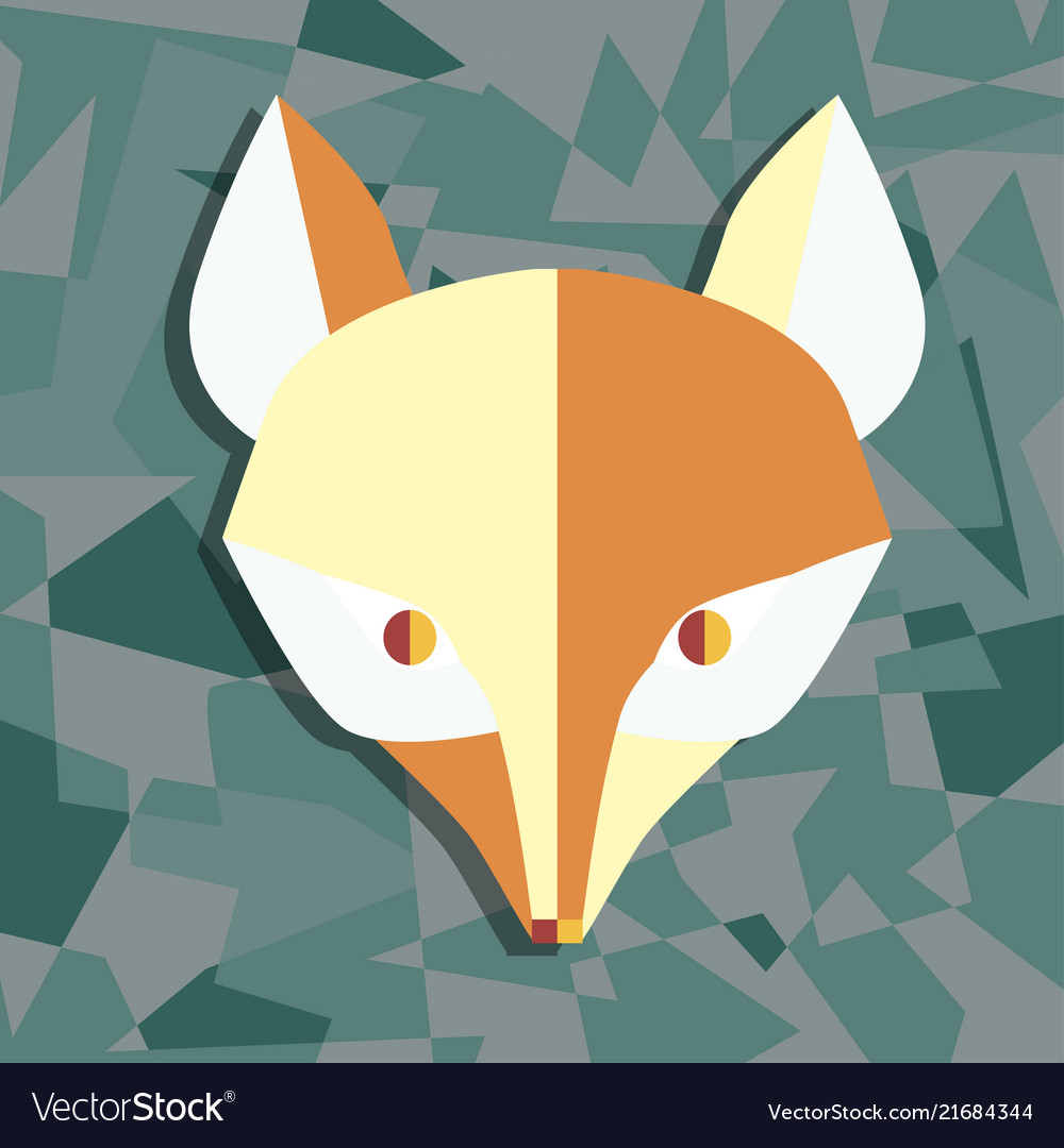 Paper foxes dark turquoise poster