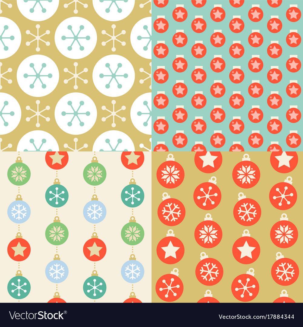 Seamless pattern wallpaper of christmas ball