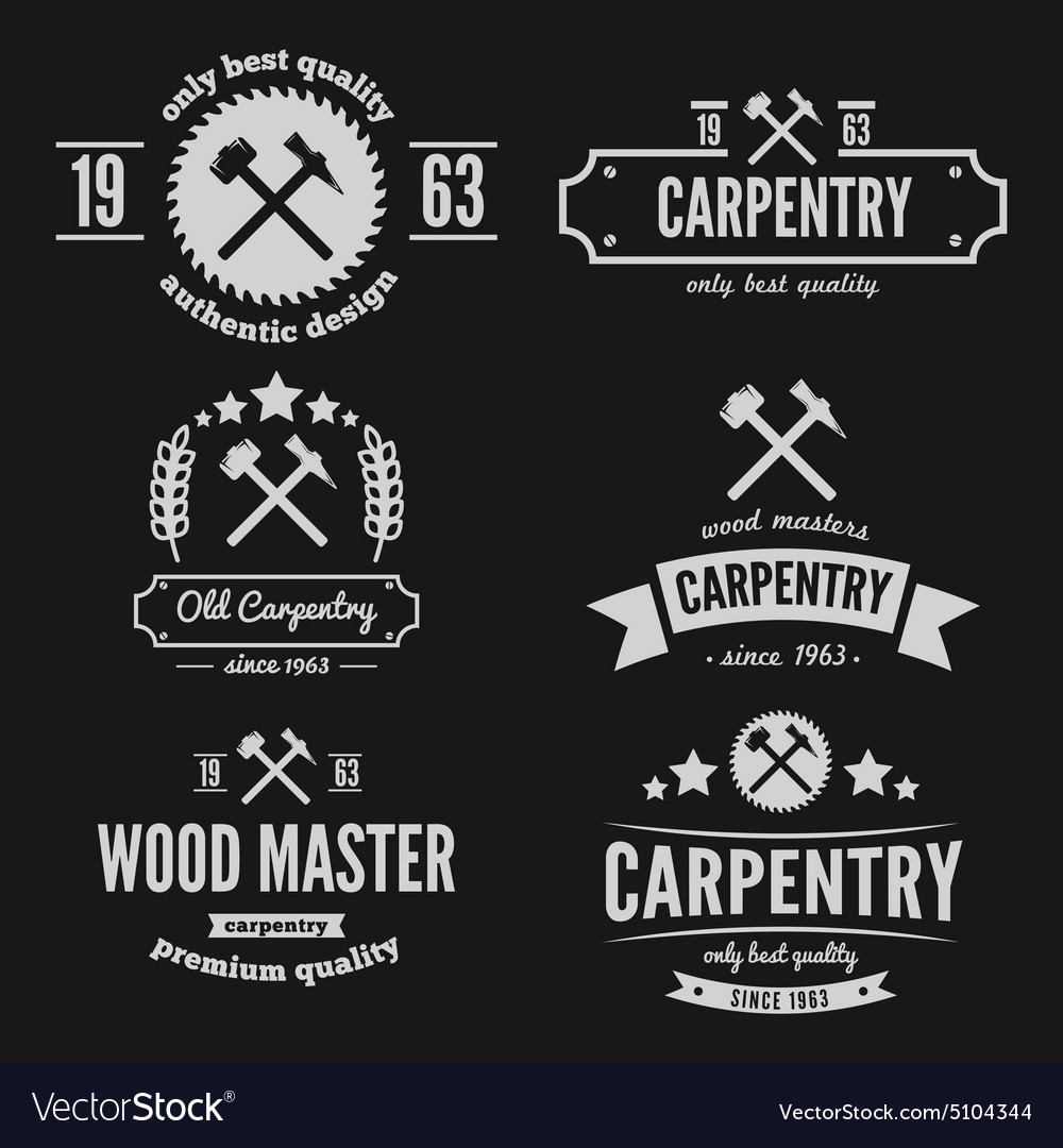 Set of logo label badge and logotype elements vector image