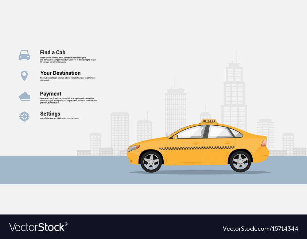 Taxi service infographic