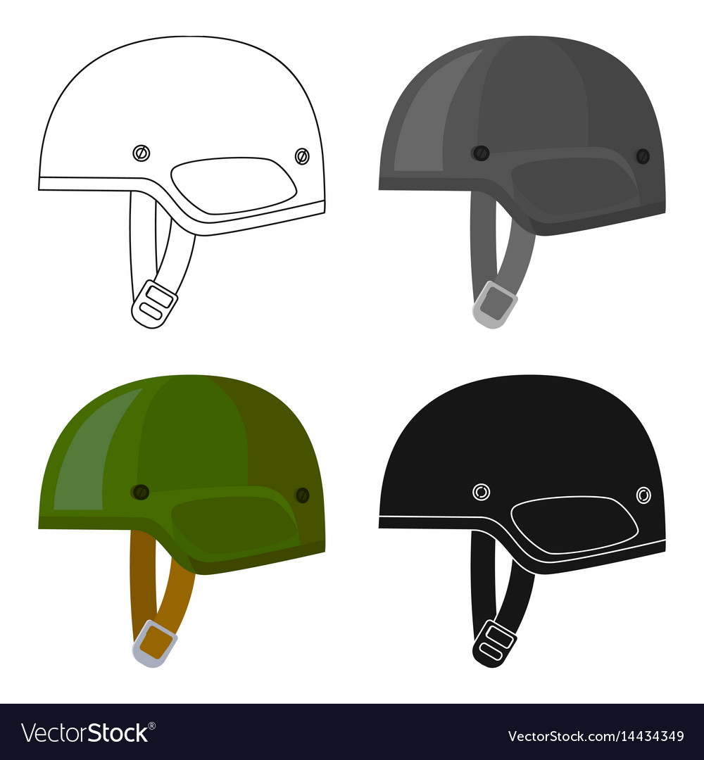 army helmet icon in cartoon style isolated on vector image rh vectorstock com Cartoon Army Person Cartoon Army Guy