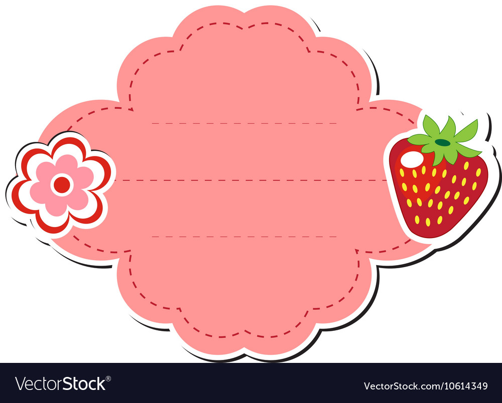 Cute Tags: Cute Sticker Label Frame For Text Kids Tag Vector Image